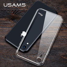 USAMS TPU case For iPhone X XS Max XR transparent Phone Case For iPhone 7 8 6 5 5s SE Ultra Thin Back Phone Cover Coque(China)