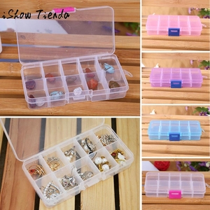 10 Grids Adjustable Jewelry Beads Pills Nail Art Tips Storage Box Case for storing earrings rings beads pills