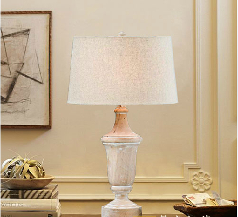 Neoclassical lighting Kitchen American Country Wood Table Lamp Creative Neoclassical French Linen Bedroom Bedside Lamp Lighting Living Room Den Pamono American Country Wood Table Lamp Creative Neoclassical French Linen