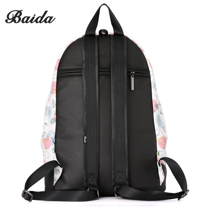 925e8ec7322e BAIDA Fashion Girls Print Backpack Clear Floral Printing Bag Backpacks  School Travel Laptop Rucksack Teen Unique Daypack-in Backpacks from Luggage    Bags on ...