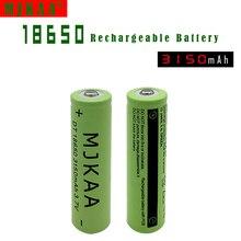 Li-ion para LED 2 PCS 18650 Bateria Recarregável 3.7 V 3150 MAH NÃO Aa e aaa Lanterna DA