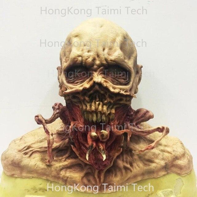 Scare Skull head Latex Mask Scary Horror Halloween Masks Demon Parasite Zombie Vampire parasitic vampire terror Thriller Monster
