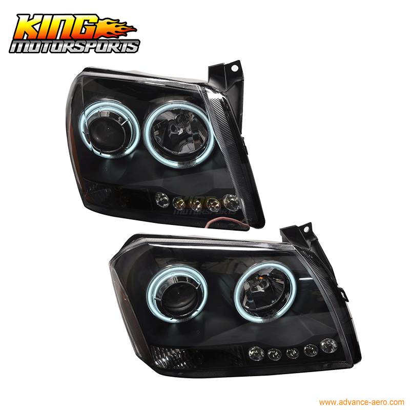 For 05-08 Dodge Magnum CCFL Halo Projector Headlights Black 06 07 USA Domestic Free Shipping