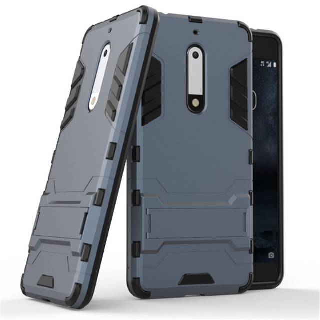 For Nokia 5 Tpu Pc Phone Cases 2in1 Shockproof Rugged Combo Armor Case Cover
