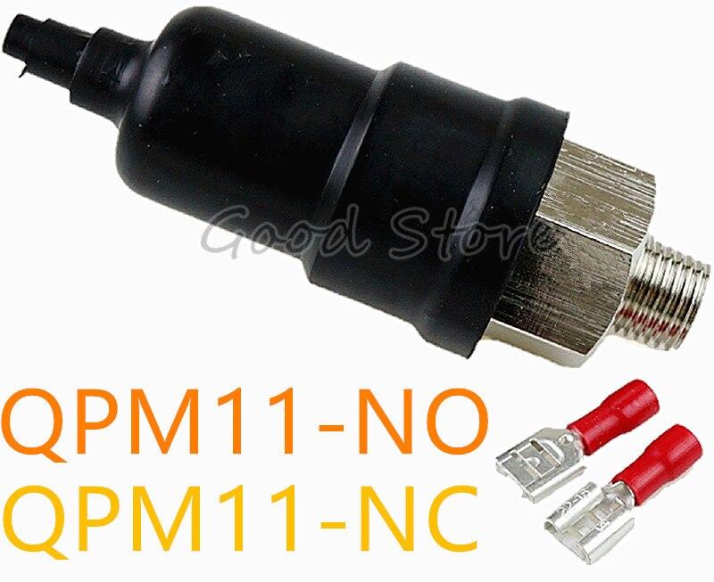 QPM11-NC / QPM11-NO G1/8 G1/4 Pressure Switch 0.1-1MPA / Adjustable Air Diaphragm Mechanical Simple Automatic Controller недорго, оригинальная цена