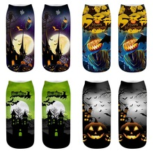 Halloween socks 3D printing socks, a variety of patterns and colors can be selected, innovative