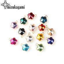 Flowers Crystal Charms Diy-Accessories 12MM Glass for Memory Locket 12pcs/Lot Zinc-Alloy