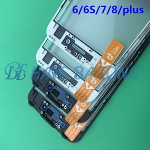 Image 5 - 10 pièces Original 3 en 1 avant presse à froid verre extérieur avec cadre moyen lunette assemblé + film OCA pour iPhone 6 6s plus 7 7plus 8g 8p