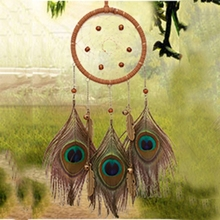 Handmade Hanging Dream Catcher with Feather Wall Car Decoration Ornament Gift YH-461079