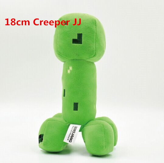 Good-Quality-Minecraft-Plush-Toy-18cm-28cm-Cooly-Creeper-Jj-Dolls-Toys-Popular-Gifts