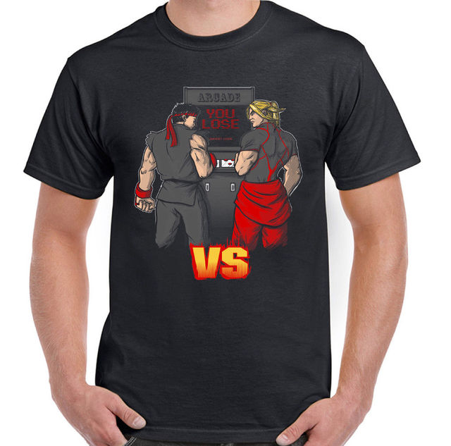 Ryu Vs Ken Mens Funny Street Fighter Inspired T Shirt Video Game Gaming Mens Shirts Short Sleeve Trend Clothing T Shirt All That Tshirt Cool Tee Designs From Eatipstore 24 2 Dhgate Com