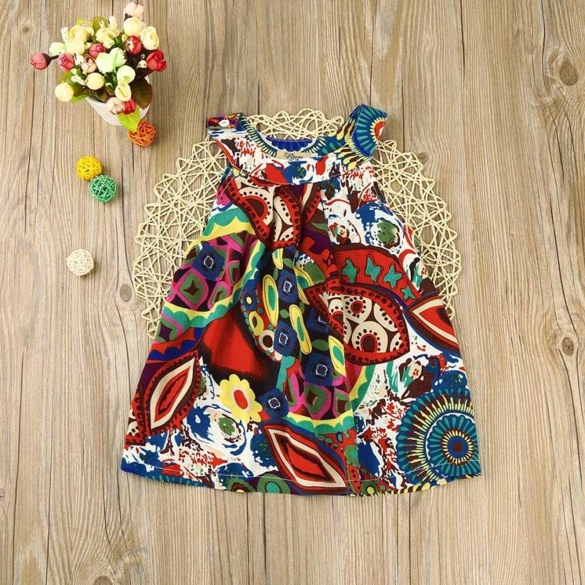 2018 baby girl clothes dresses Newest Style Summer Baby Vest Princess Girls Dress summer dress girl YL1