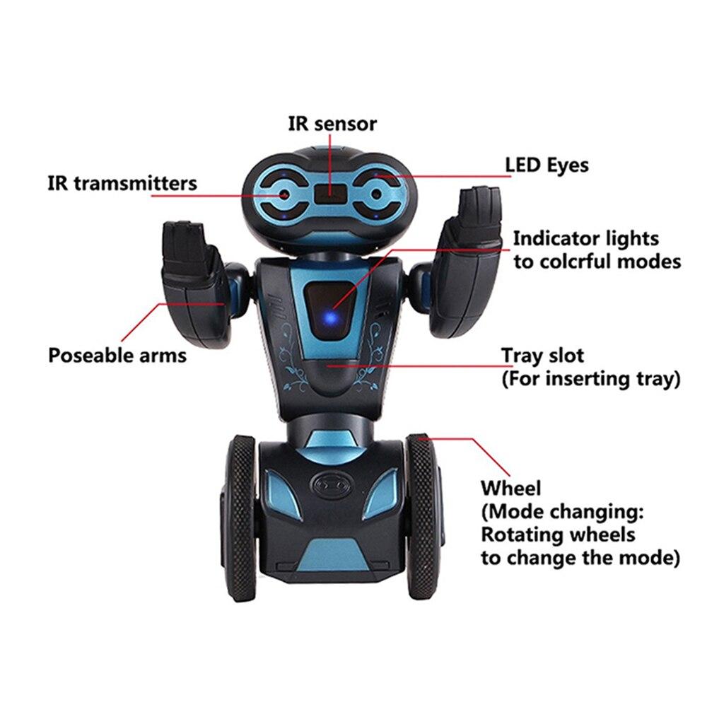 Commande vocale Rc Robot Jouets Pour Enfants 5 D'exploitation Modes Télécommande Intelligente Humanoide Robotique Présent Jouets Électroniques - 3