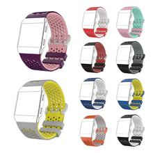 Alloyseed Adjustable Replacement Silicone Sport Watch Bands Bracelet for Fitbit Ionic Smart Watch Female Male Size S L