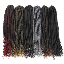EUNice Faux Locs Crochet Hair 18 inch Ombre Two Tone T27/30/BUG Synthetic Faux L
