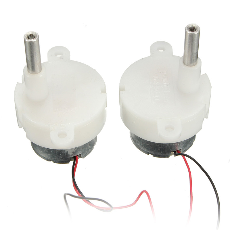 2pcs <font><b>DC</b></font> 5V 6V 9V 12V Worm Gear <font><b>Motor</b></font> Long Shaft Gear <font><b>Motor</b></font> Low Speed 5-12 RPM image