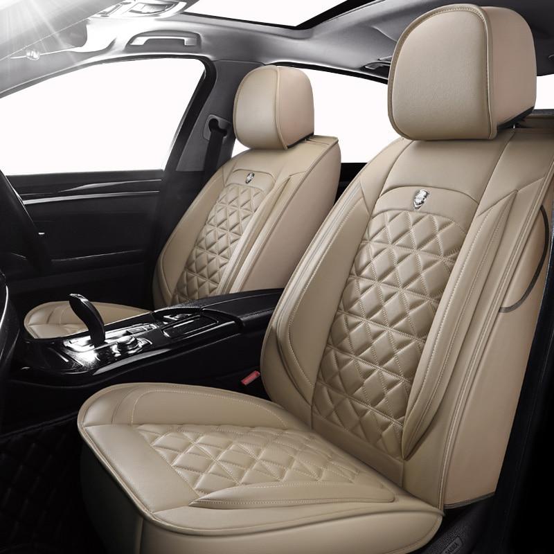 (Frente + traseira) tampas de assento de carro couro especial para volvo v50 v40 c30 xc90 xc60 s80 s60 s40 v70 acessórios capas para veículo
