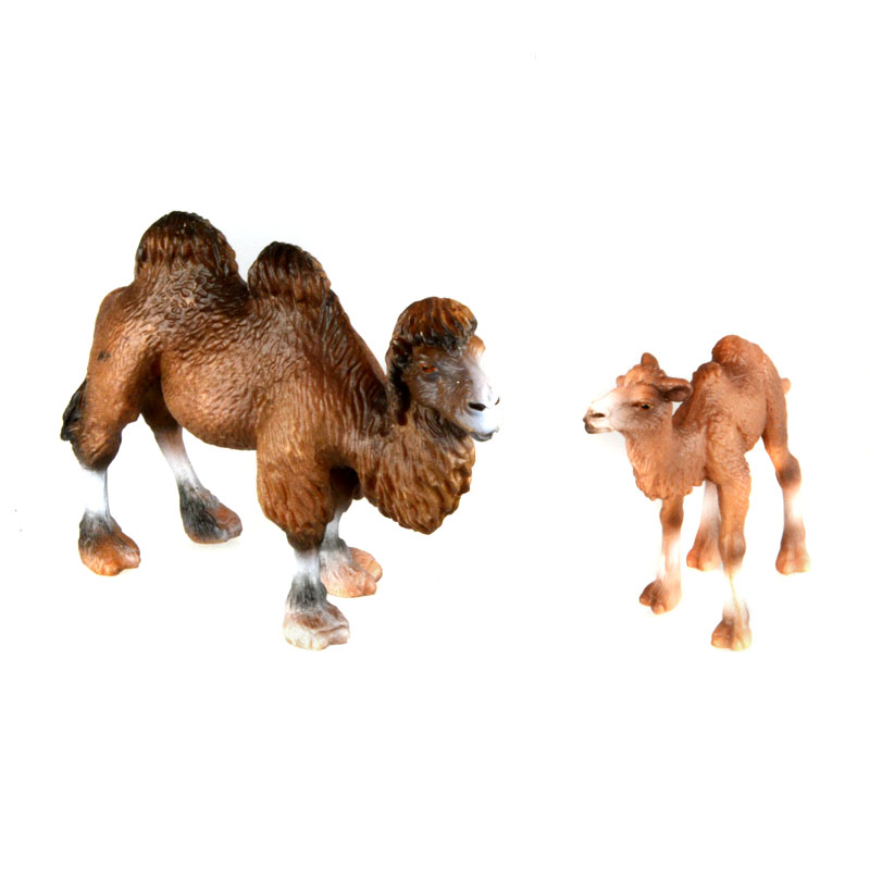 Starz PVC Animals World 2pcs/set Mongolia Camel Staric Model Plastic Action Figures Toys Gift for Kids starz animals emperor penguin static model plastic action figures educational sea life toys gift for kids