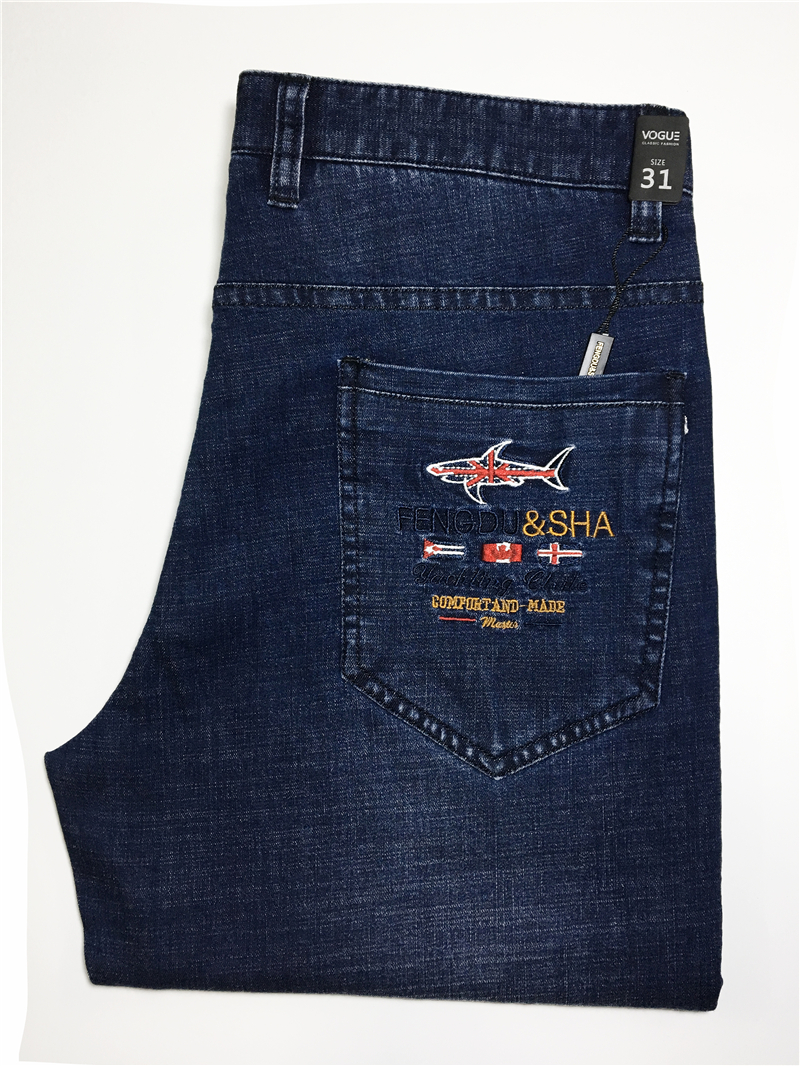 Jeans man Tace&shark brand clothing jeans Straight, medium and straight cotton, Thick fabric, embroidered jeans Billionaire men
