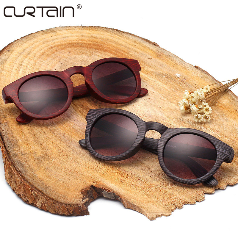 2017 Vintage Texture Wood Sunglasses brand sunglasses women glasses UV400 fashion designer girls glasses Oculos De Sol Masculino