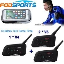 1 *V4+2 *V6Pro Interphone for Football Referee Coach Judger Bike Wireless Bluetooth Headset Intercom 3 User Talk Same Time yale pc service tool v4 87 [with user