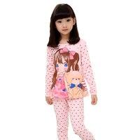 Baby Kids Pajamas Sets New Spring Summer Cute Cartoon Long Sleeve Girls Sleepwear Homewear Children Clothes
