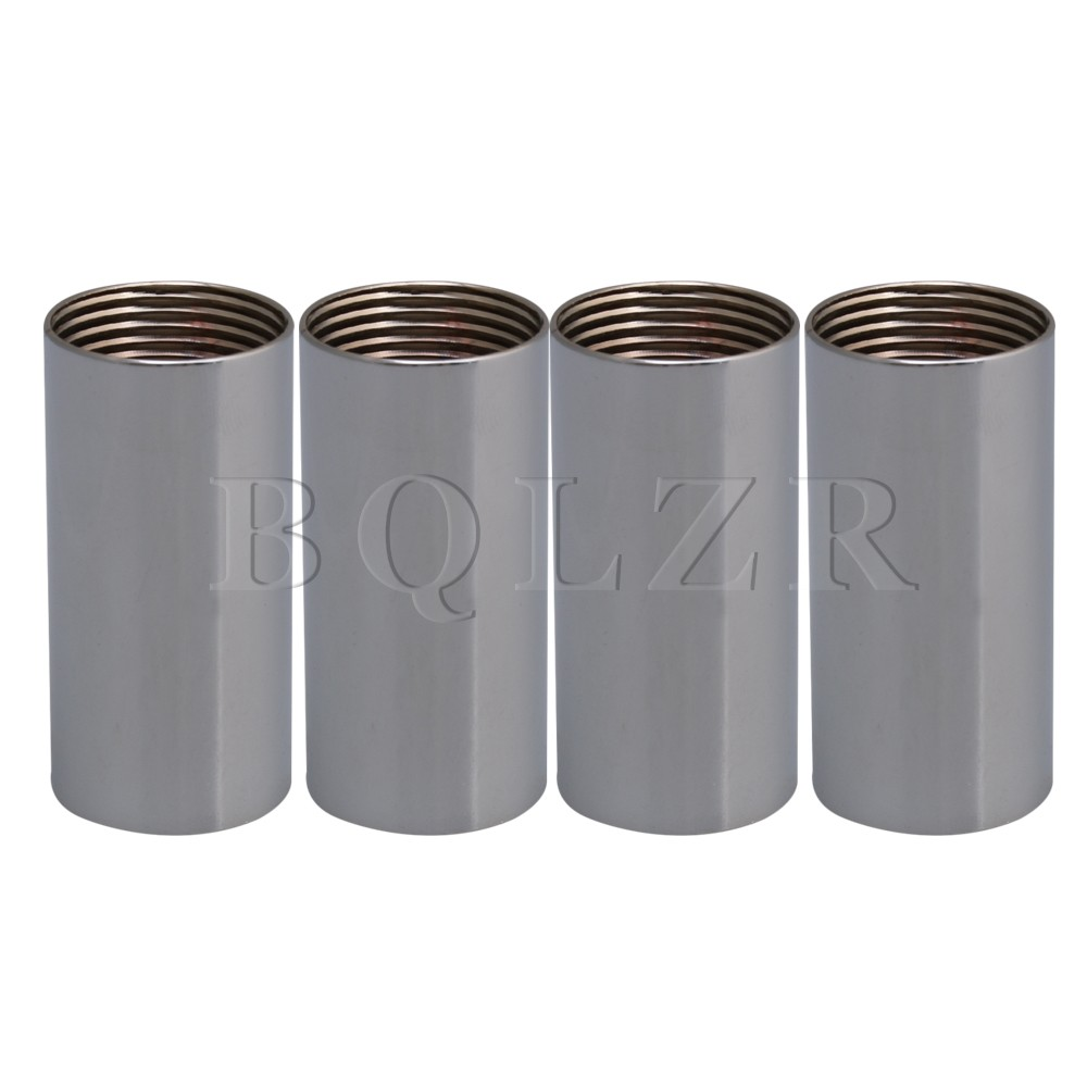 BQLZR 4 шт. 5 см Длина M25 хром металлический свет соединительная трубка провода крышка с двухсторонним внутренняя резьба для торшер