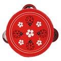 1 pcs mini pandeiro tambor de mão dos desenhos animados educacional musical bater brinquedo instrumento musical tambor de mão de madeira do bebê toys
