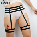 2014New Leg garter  fashionable sexy geometric black  spandex  belt  for lady