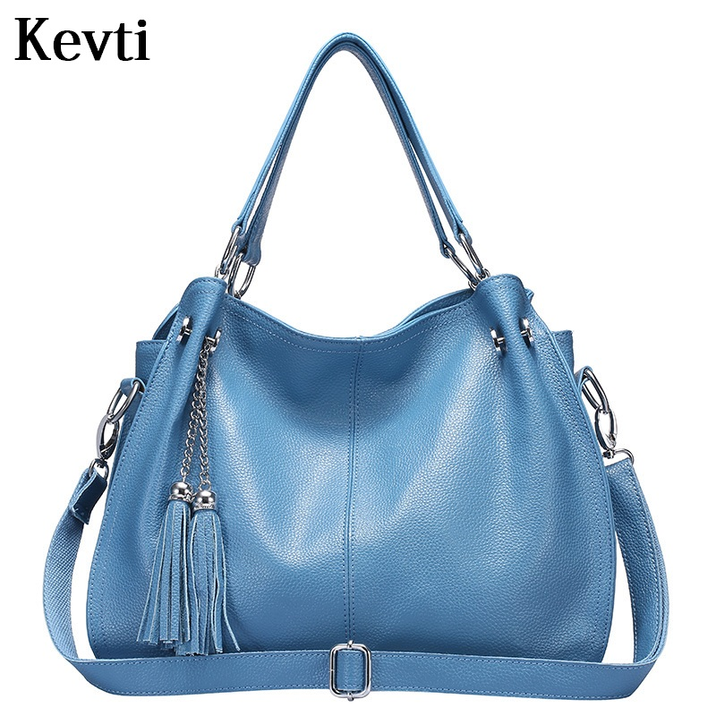 KEVTI Genuine Leather Women Handbag High quality Cowhide Female Shoulder Bag Fashion Ladies messenger Tote for Teenagers girls  kevti brand genuine leather women handbag high quality cowhide female shoulder bags casual crossybody bag european style hobos