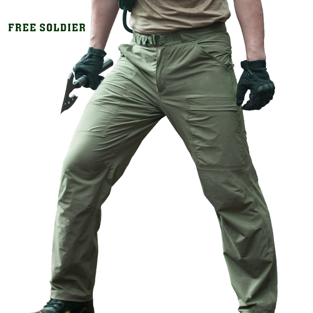FREE SOLDIER Outdoor Sports Tactical Camping Hiking Climbing Men's Pants Male Summer Thin Breathable Trousers