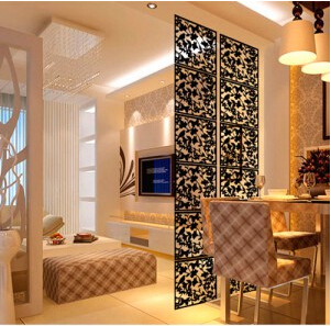 Room divider Room partition wall screen room dividers Partitions Wall stickers cutout Home screen folding Screen ...