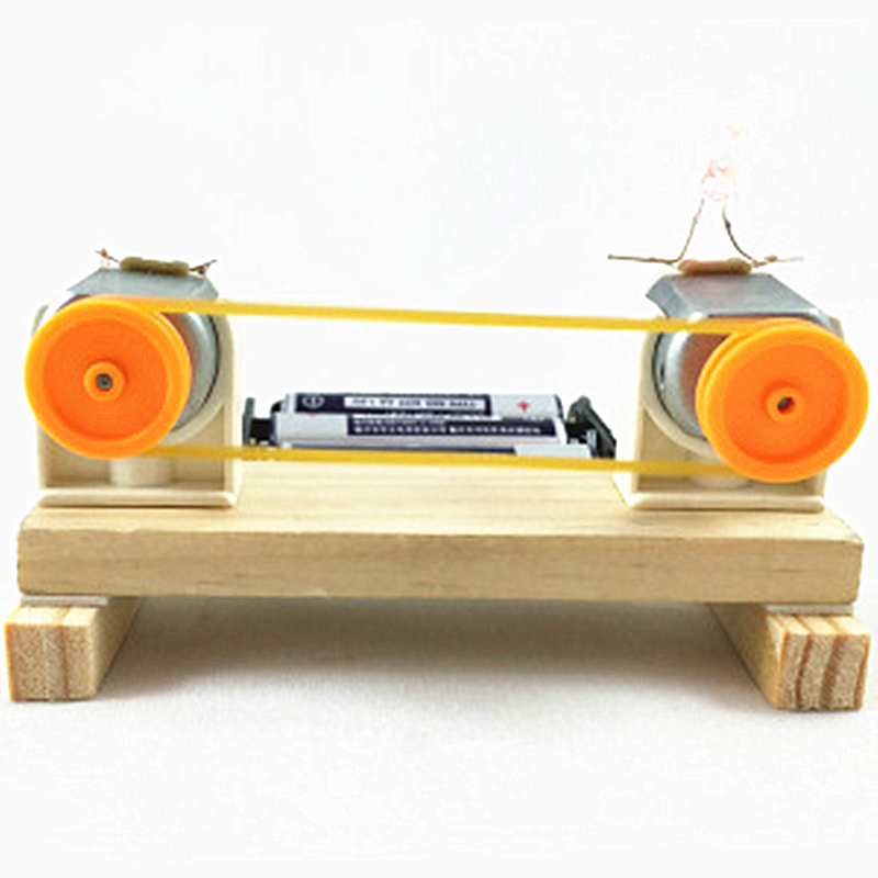 1 Set Of Wooden Children's DIY Education Learning Technology Energy Conversion Experiment Model Toy