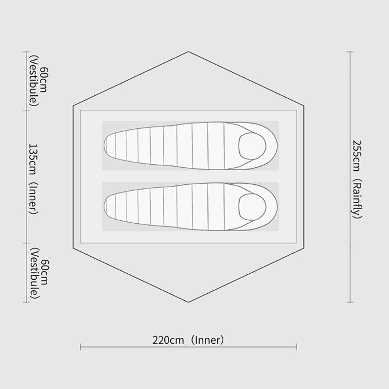 Стандартная Палатка Free Spirits TFS STARS2 (черная этикетка) Одностороннее силиконовое покрытие для 2 человек 3 сезона кемпинга - 2