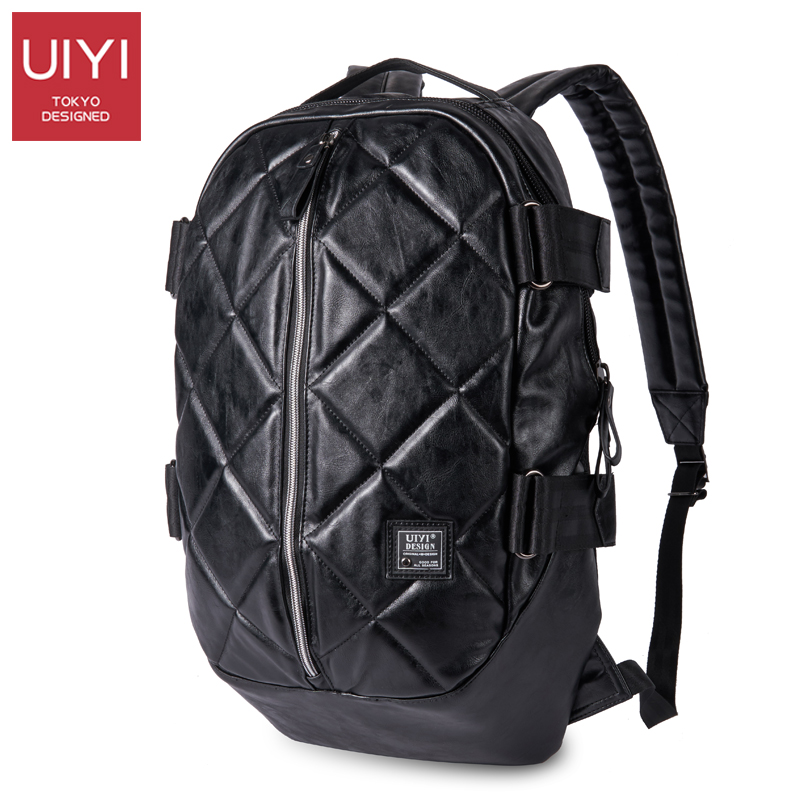 цена на UIYI Men's Fashion Backpack 2017 new male package PVC bags For girl boy's personality men 14' laptop bagback pack  # UYB7021