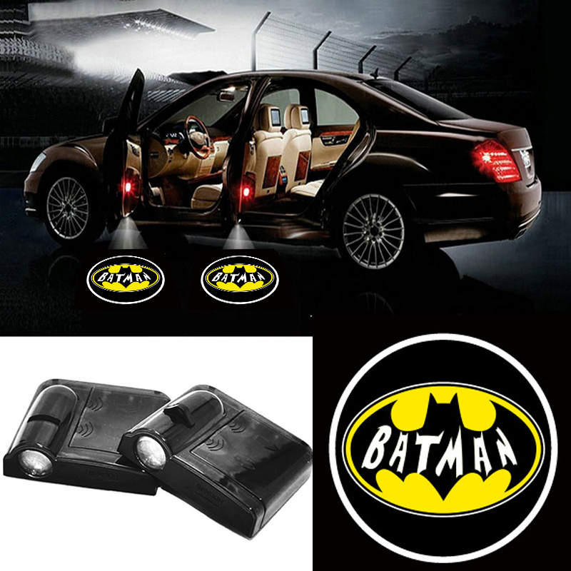 Volkrays 2 X Wireless Car Door Light Laser Welcome Ghost Shadow Projector Batman Logo for Nissan Juke Tiida X-trail Titan