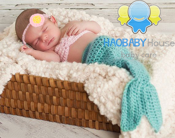 Infant Mermaid Costume Newborn Crochet Dress Mermaid Crochet Baby