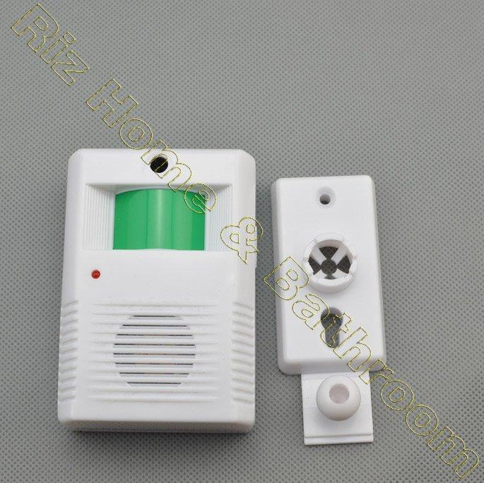 Wireless Ir Sensor Entry Alert Door Chime Visitor Customer Entrance
