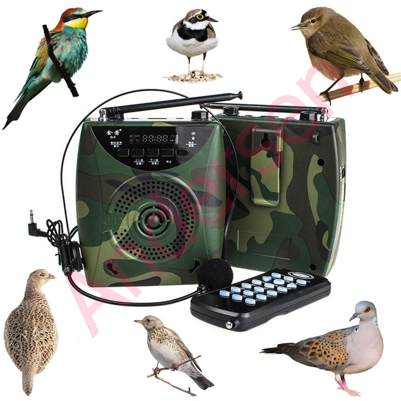 48W Over 800 Birds sound Wireless Remote Bird caller MP3 Player Digital Hunting Decoy With Headset
