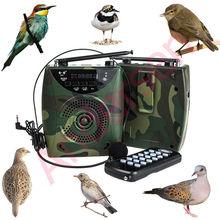 48 Watt Über 800 Vögel klingen Drahtlose Fernbedienung Vogel anrufer Mp3-player Digital Jagdattrappe Mit Headset