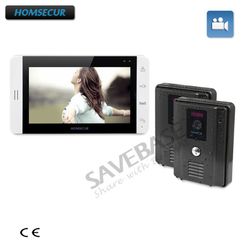 HOMSECUR 7 Wired Hands-free Video Door Phone Intercom System with Russian Local Delivery homsecur 4 3inch wired video door phone intercom system with electric lock delivery from russia