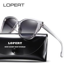 LOPERT Brand Designer Cat Eye Polarized Sunglasses Women Popupar Transparent Frame  Sun Glasses Vintage Oculos Ladies UV400