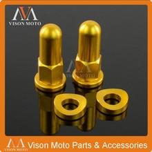 Gold MX Rim Covers Nuts Washers Security Bolts For suzuki RM125 RM250 RMZ250 RMZ450 RMX250 RMX450 DRZ400 Motocross Dirt Bike