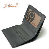 J Quinn Thin Small Leather Wallet For Men Women Bifold Short Wallets Purse Red Luxury Girl