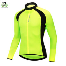WOSAWE Breathable Mesh Fabric Cycling Jacket Full Zipper Chaqueta Back Pockets Reflective Running Fluorescent Sports Bike Jacket(China)