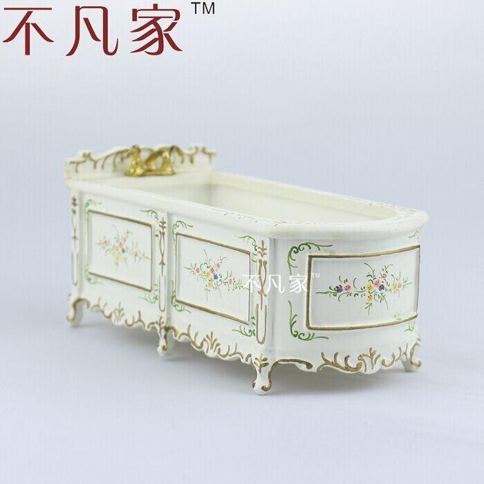 offerta speciale dollhouse 112 scala fine mobili in miniatura dipinta vasca da bagno