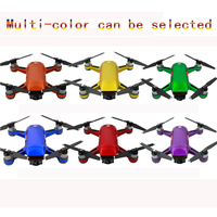 HOBBYINRC Ice series Decals Waterproof Protective Carbon Fiber Skin Cover Sticker Body Arm Battery Stickers for DJI Spark