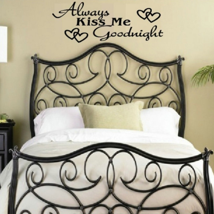 Always Kiss Me Goodnight Wall Art Stickers On The Wall Home Decor