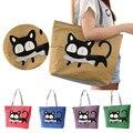 New Trend American Apparel Canvas Shoulder Bag Cat Bag Hot Sale Woman Messenger Handbag Big Shopping Bag Free Shipping Dec16