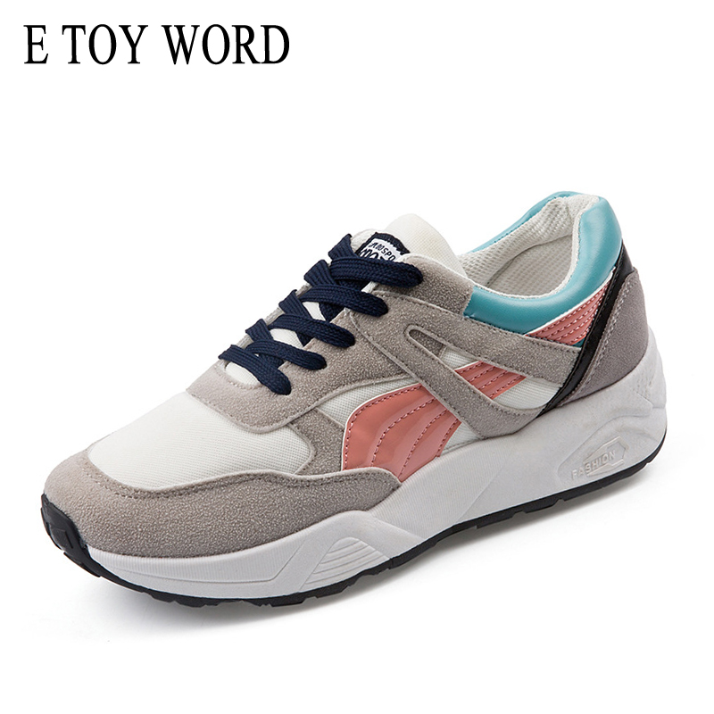 E TOY WORD New 2018 Spring Autumn breathable sneakers women's Walking shoes student casual shoes Harajuku wild women's shoes e toy word women boots autumn winter